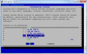 VPS konfiguracja języka